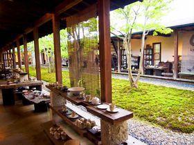 中庭を囲むアート空間「回廊ギャラリー門」で出会う笠間焼(茨城)