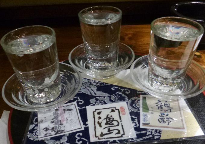 ここなら新潟を代表する三銘柄の大吟醸の呑み比べが気軽にできる!