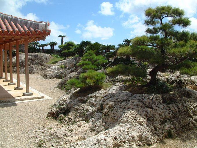 書院・鎖之間から琉球庭園を眺め、ひととき往時へ思いを馳せる
