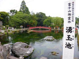 世界文化遺産の富士山本宮浅間大社「湧玉池」で頂く富士山御霊水