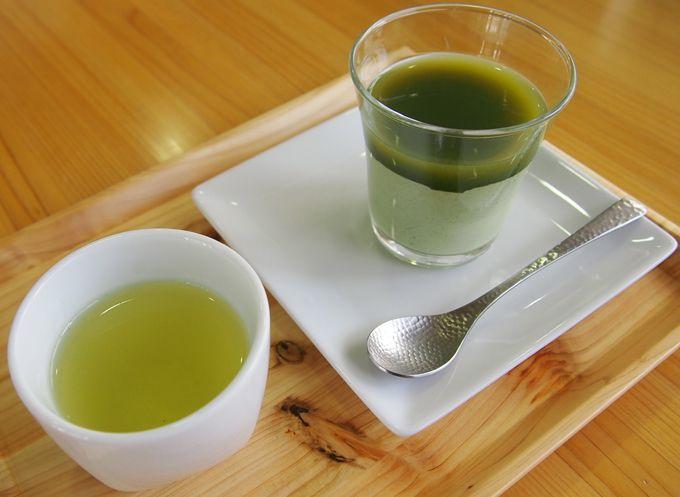 手塩にかけ玉露のような深い甘味と旨みが特徴「かぶせ茶」使ったプリン