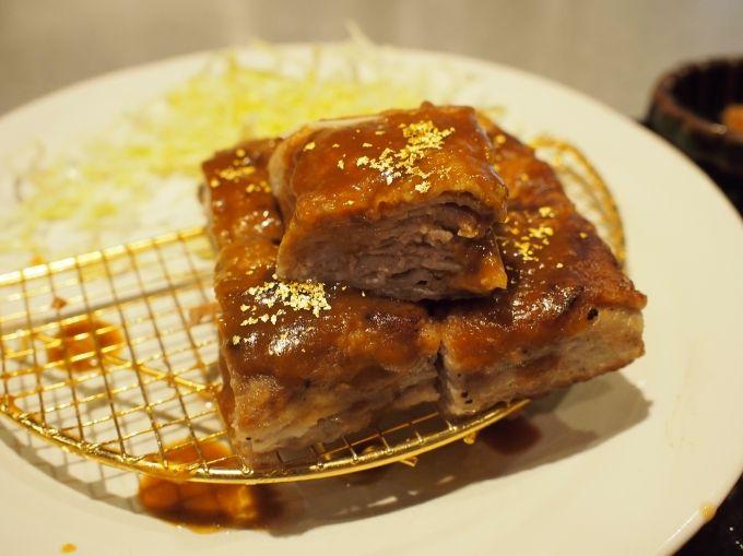 見てください!この美しいお肉のミルフィーユ!