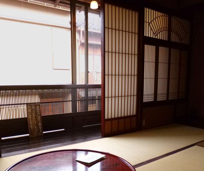 茶房久連波、二階座敷席からの東茶屋街の眺めも是非楽しんで