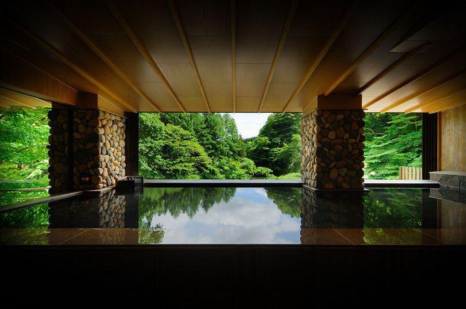 魅力2.温泉には3つの源泉、17の湯船。源泉かけ流しの湯も!