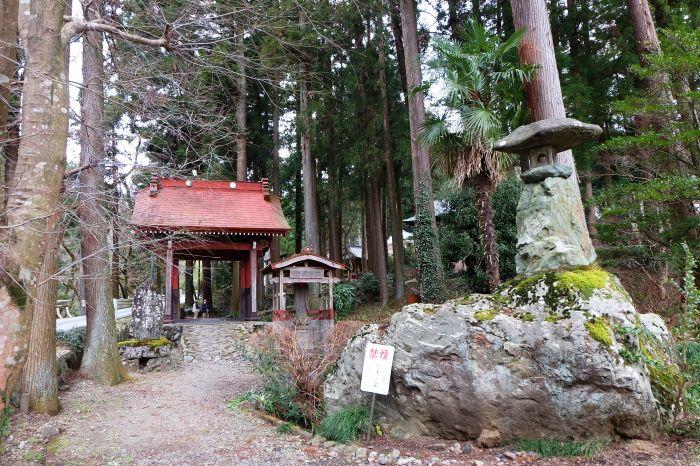 山門の先にはセッコクの森、そして境内社「龍ヶ谷熊野神社」