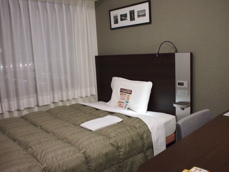 ゆったりダブルベッドの客室、バリアフリー客室も!