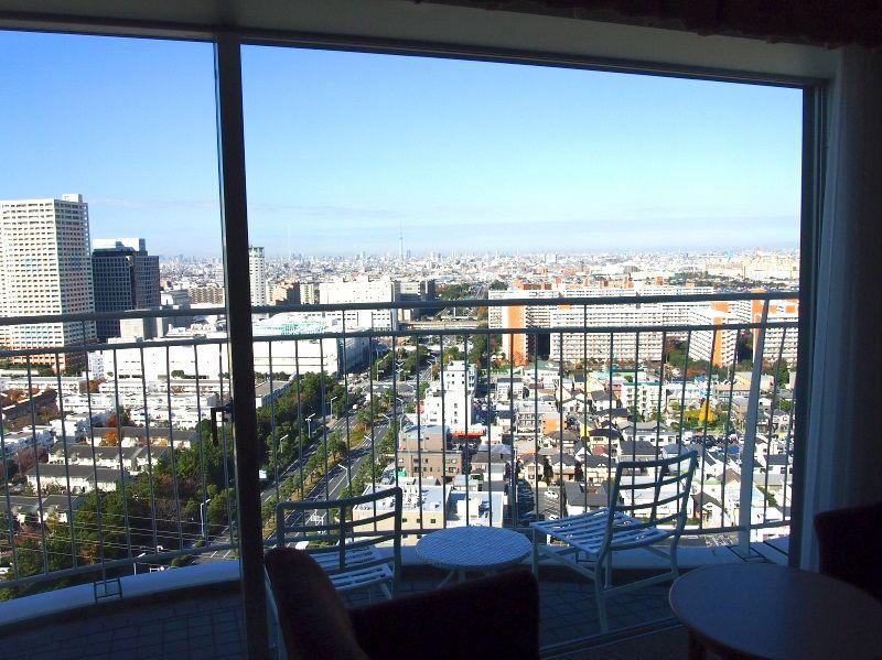 バルコニー付きの高層客室はまさに絶景スポット!