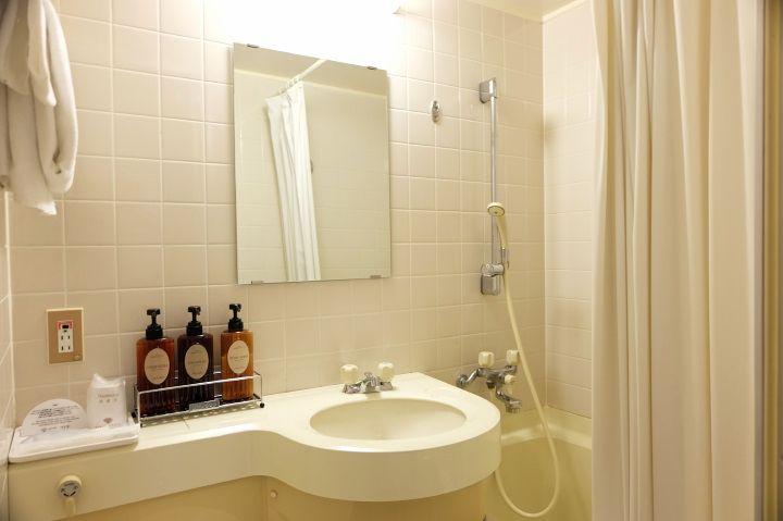 バスルームは少しゆったり