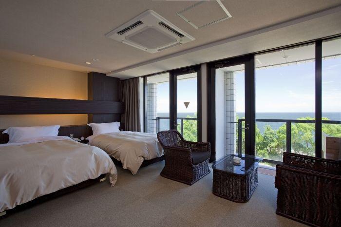 眺めの良いゆったりとした客室
