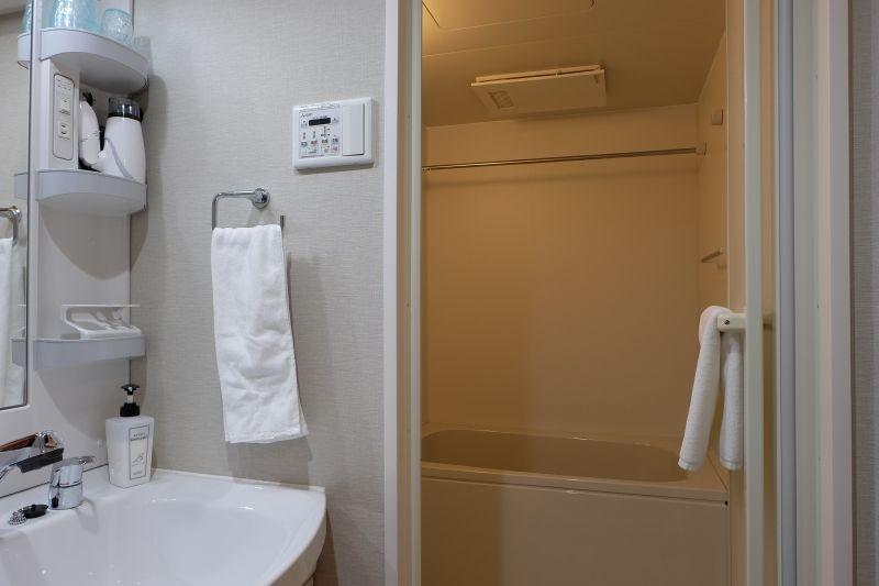 バストイレ別、乾燥機付洗濯機を備える部屋も
