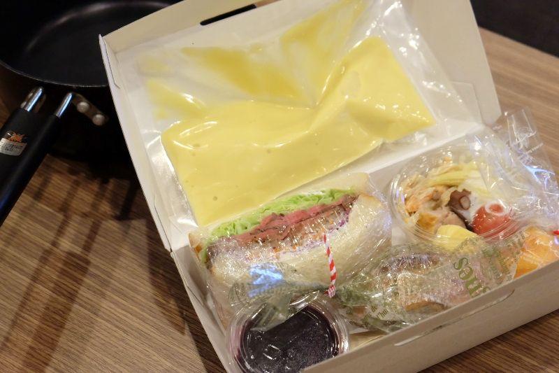 ザ・ベース・堺東・アパートメントホテルのユニークな朝食BOX!スープは温めて
