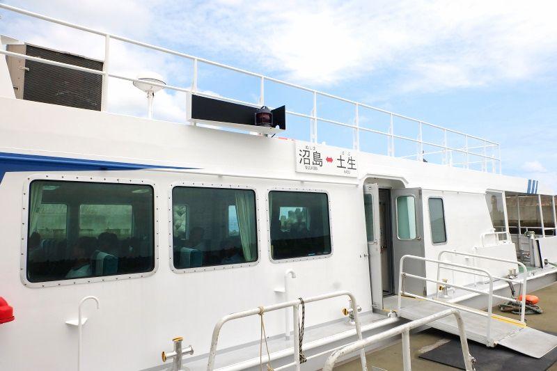 沼島汽船でGO!10分の船旅も楽し