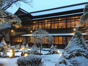 能代市旧料亭金勇でお座敷貸切り、優雅な雪見ランチ&夜景食事プラン