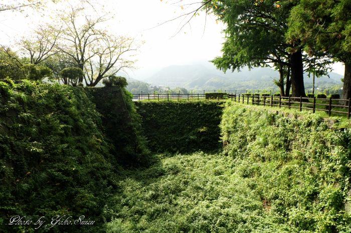 かつての城の名残を留める濠や櫓、石垣