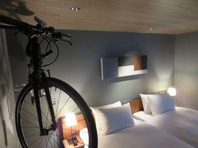 自転車もお部屋へご案内。尾道「HOTEL CYCLE」(ホテルサイクル)