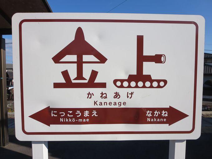 グッドデザイン賞を受賞した駅名標。