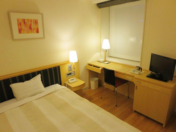 シンプルかつ快適な客室。