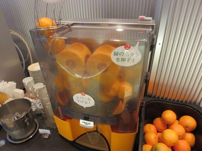搾りたてオレンジジュースマシーン!