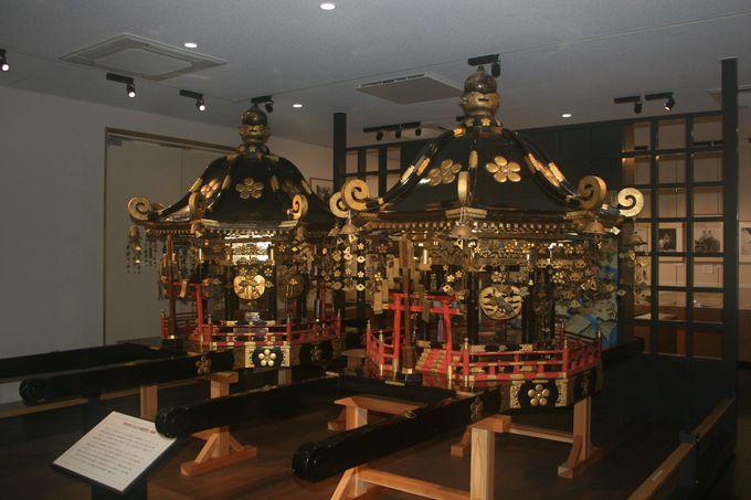 「山岳集古未来館」で、加賀藩主から寄進された神輿に感動!