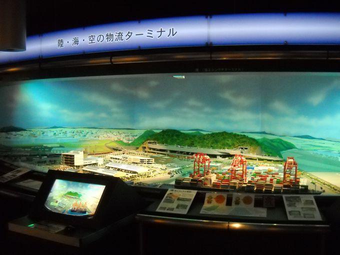 地下1階は「現代の物流展示室」