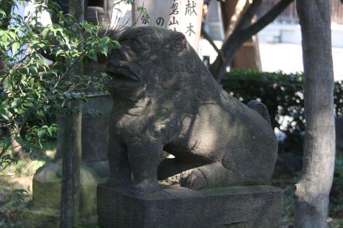 大田区内最古!の変顔な狛犬は332歳!