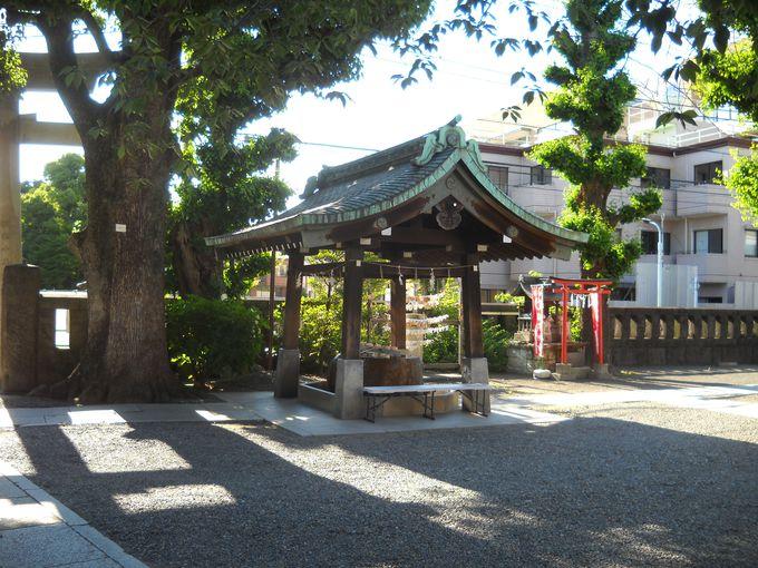 「仙台坂」を登り切ったところにある「麻布氷川神社」