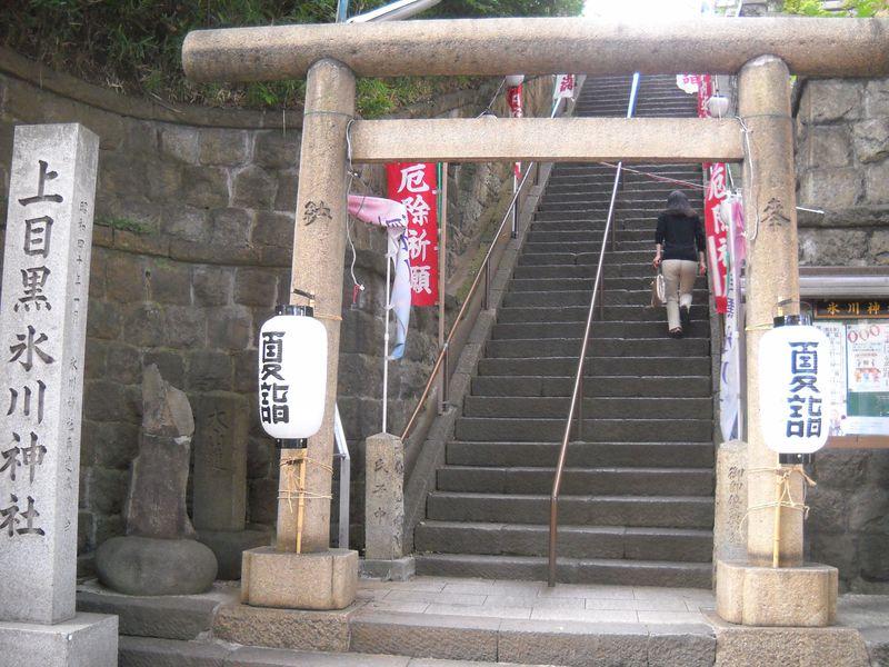 目黒富士登山で厄除祈願!東京・上目黒氷川神社