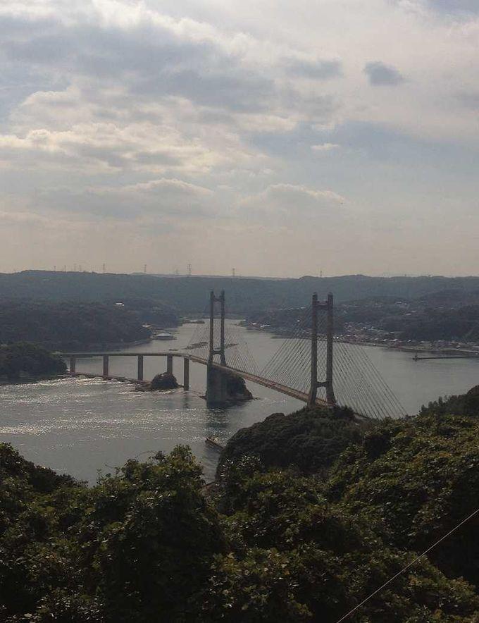 呼子大橋を望む絶景の公園へ