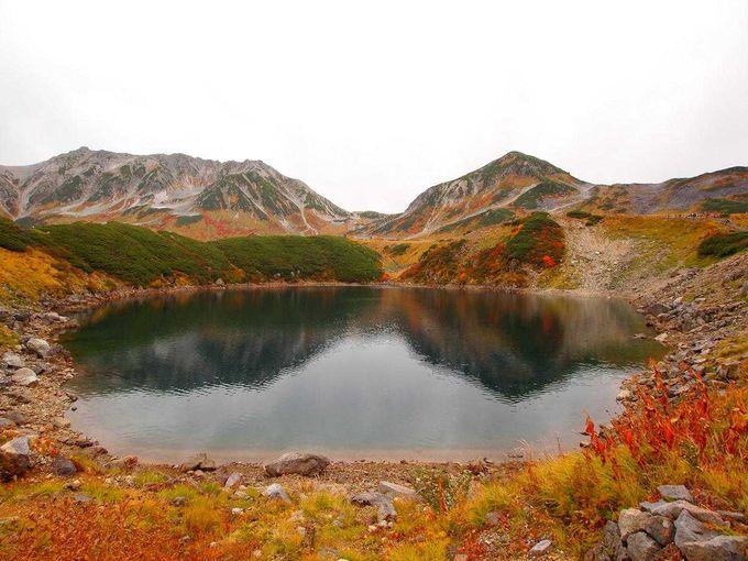 みくりが池から望む名峰「立山」