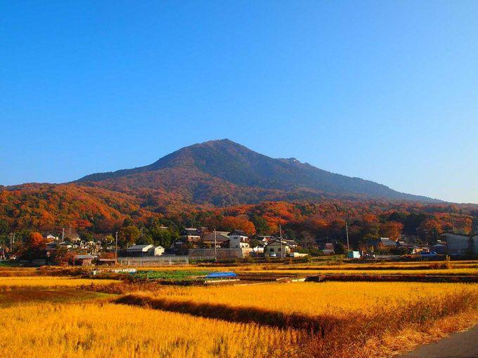 鬼門に立つ筑波山