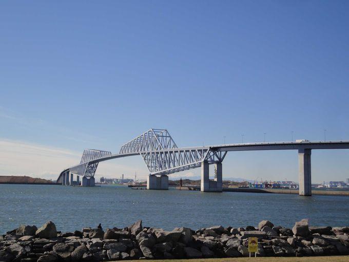 ユニークな形が人気の通称「恐竜橋」