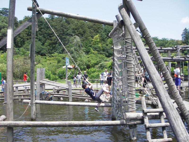 まるでSASUKE(サスケ)!? 日本最大級の本格アスレチックが楽しめる清水公園【千葉県野田市】