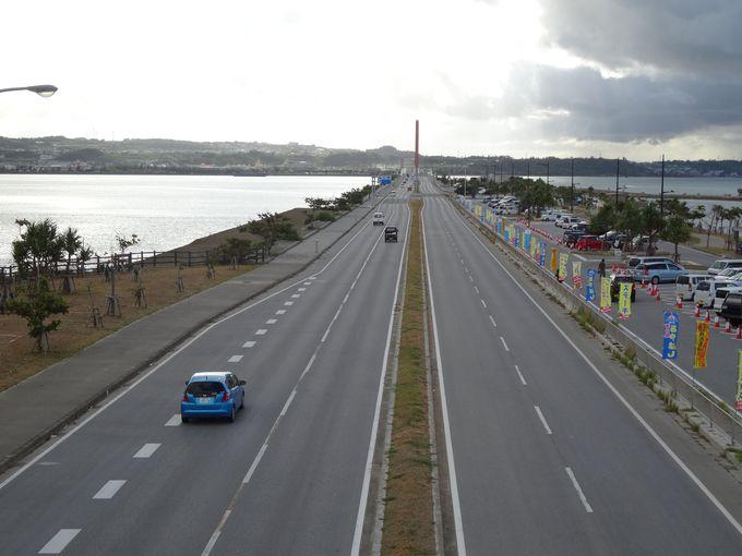 ベスト3:空と海の真ん中を爽快ドライブ「海中道路」