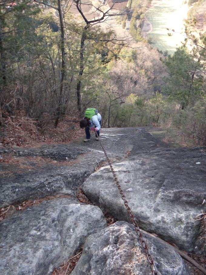 クライマックスは、ほぼ垂直なクサリ場「猿岩」