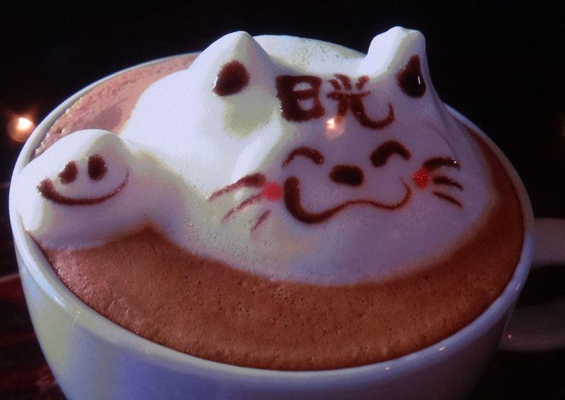 可愛すぎて・・飲めない 日光市「珈茶話」の立体ラテアート