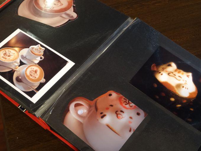 デザインメニュー本からお好みの3Dラテアート選べます