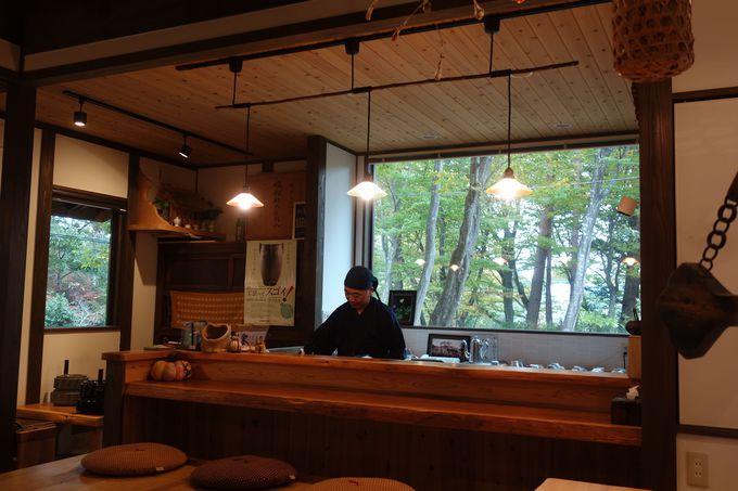 静かな空間で四季折々の那須高原の風景を楽しめます。