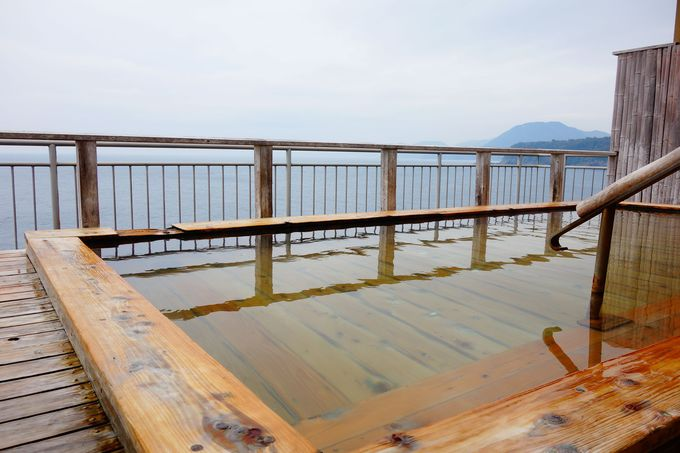 海と一体になれる露天風呂でミネラル吸収!!