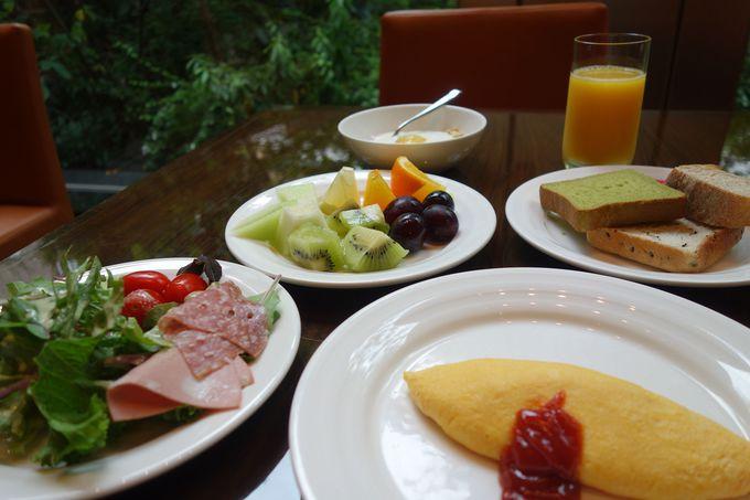 農家直送!!新鮮野菜とふわふわオムレツの朝食♪