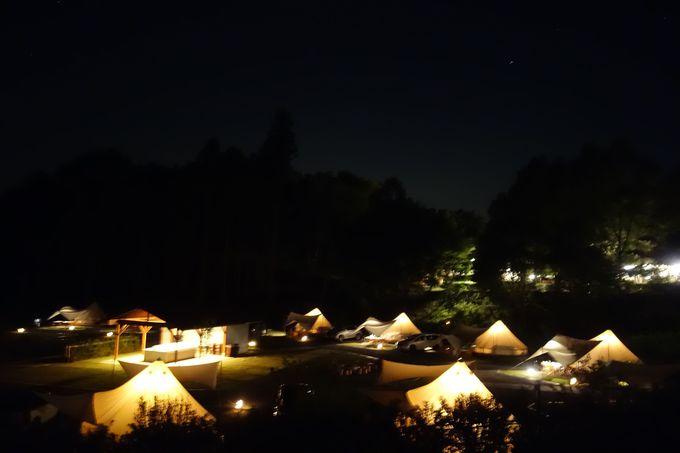 「森と星空のキャンプヴィレッジ」自慢の満天の星空