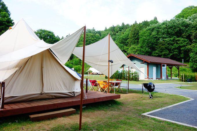 森の中のモビリティーパーク・ツインリンクもてぎ内「森と星空のキャンプヴィレッジ」