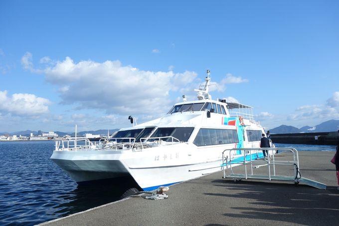 ホテル前桟橋より宮島まで高速船で直通26分!!