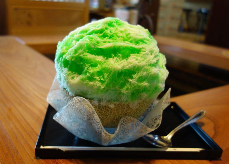 メロン半玉使用!茨城県笠間「古民家かき氷 雪みるく」の絶品かき氷