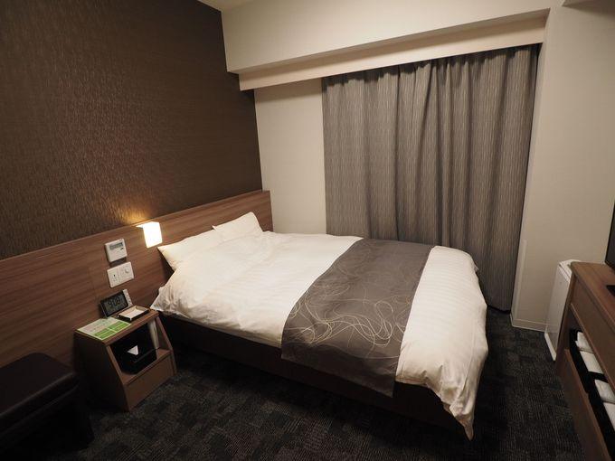 ぐっすり眠れる使い勝手のよい客室