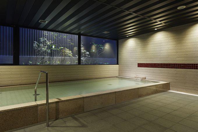 人工炭酸泉で疲れをスッキリ洗い流す癒しの大浴場