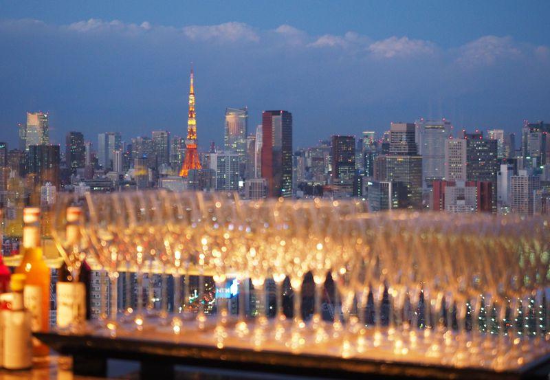 品川プリンスホテル「DINING & BAR TABLE 9 TOKYO」は眺め最高!!