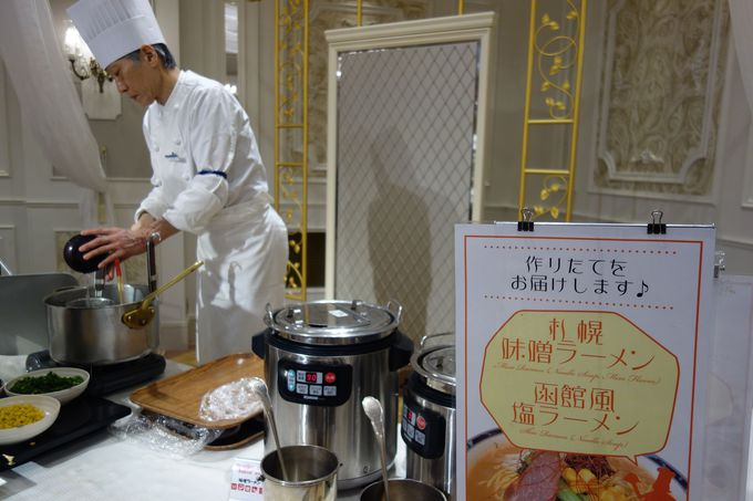 北海道の味を楽しめる日替わりライブキッチン