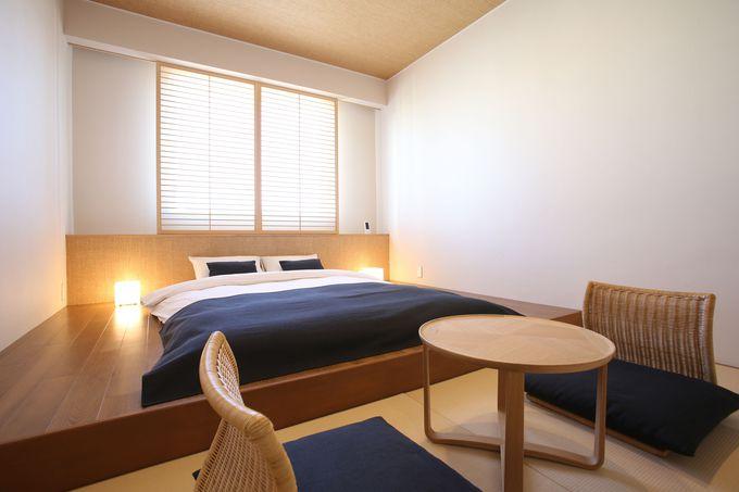 旅のスタイルで選べるナチュラルな客室