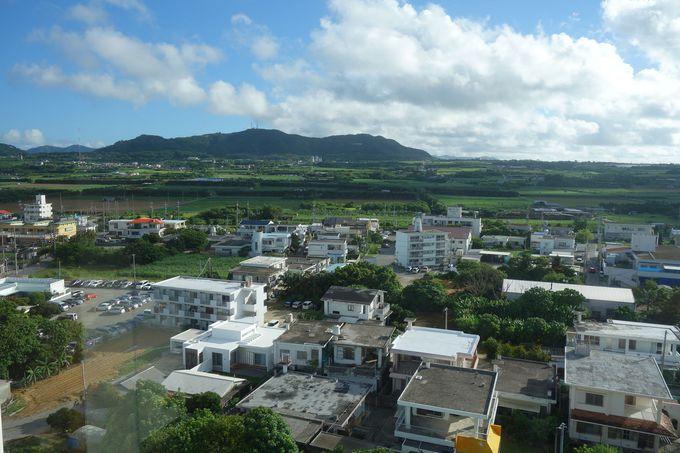 窓辺の景色は、山側も海側も石垣島ののどかな景色