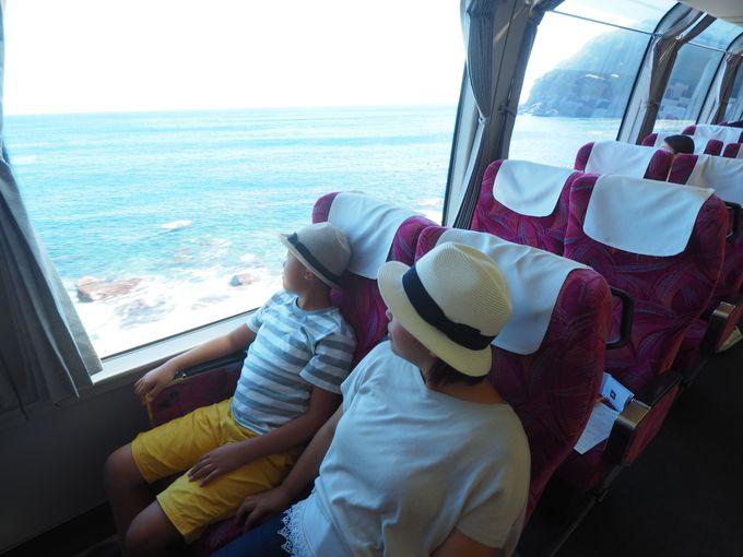 車窓には青い海と豊かな緑が!!「踊り子号」で行く伊豆下田